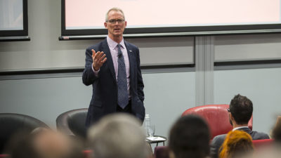 Former CongressmanBob Inglis at a recent talk on why conservatives should support climate action.