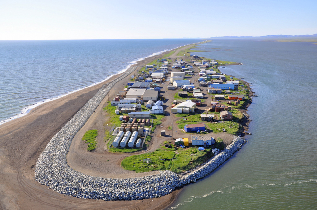 Kivalina, a village in Alaska facing coastal erosion, July 2012