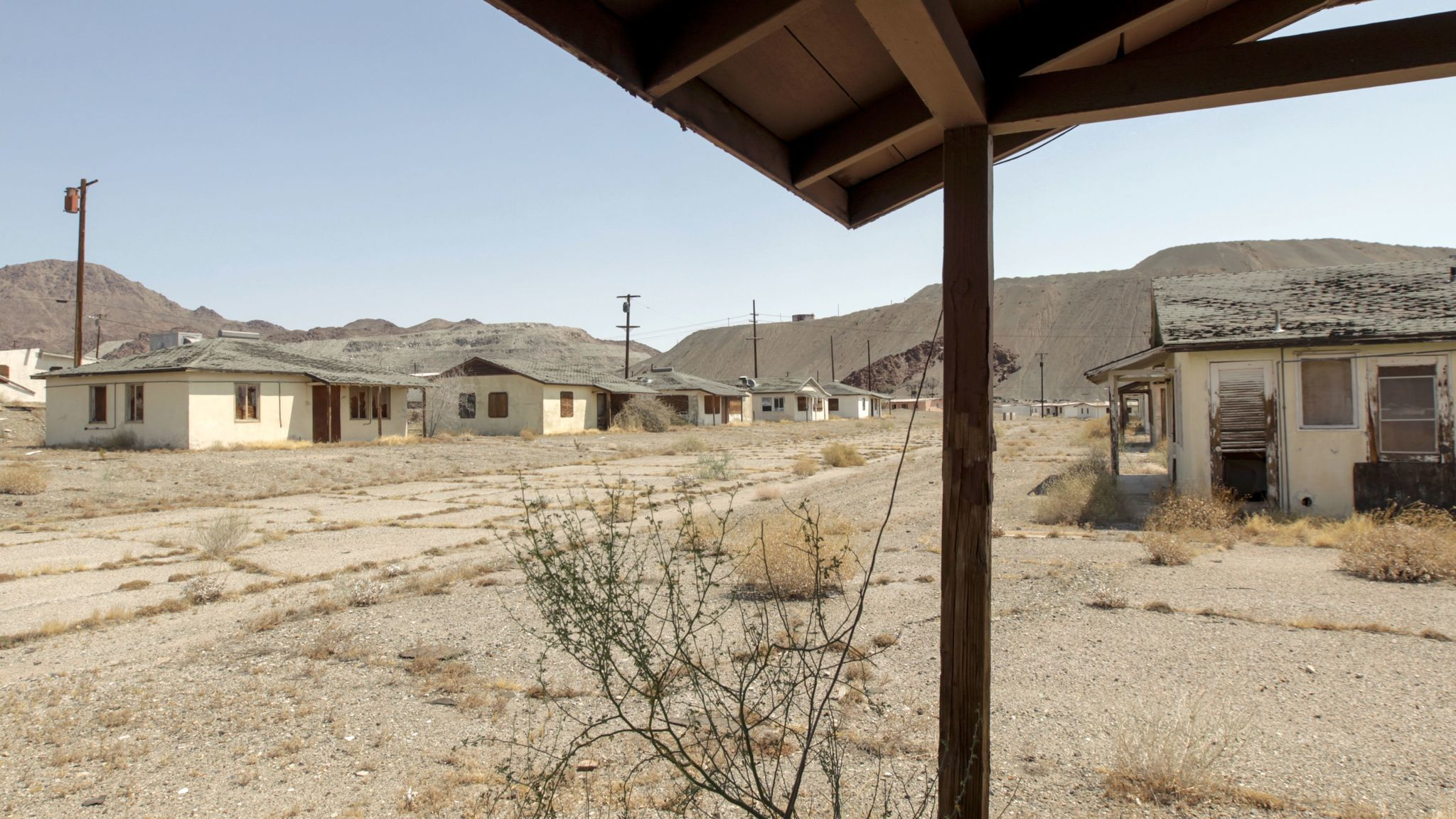 Weed-filled streets and boarded-up houses are all that is left of the company town.