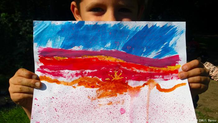 Kids4Climate Kids' paintings (DW/I. Banos)