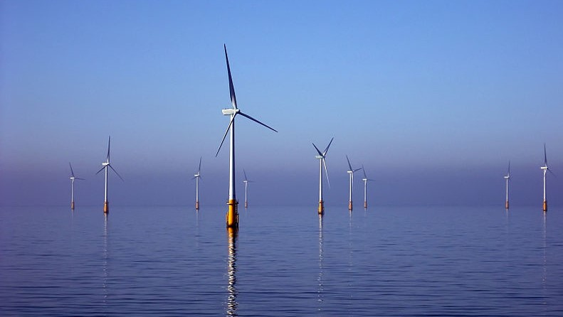Offshore wind turbines at Barrow Offshore Wind off Walney Island in the Irish Sea Photo: Andy Dingley