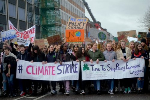 Cork climate strike march Photo: Shamim Malekmian