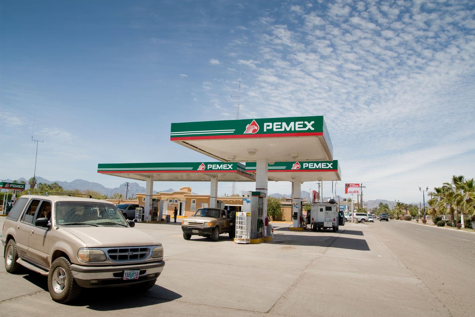 A Pemex station in Loreto, Mexico