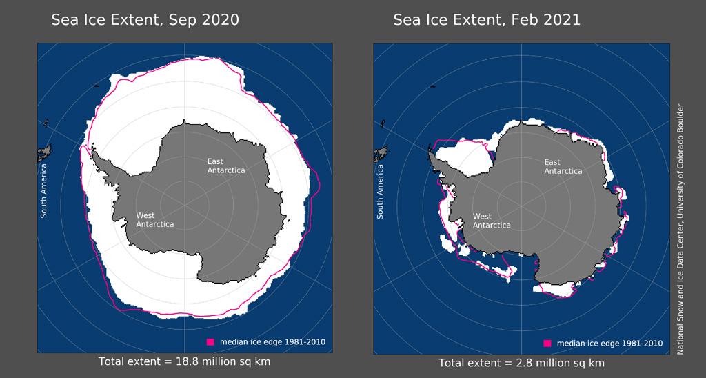 Maps of Antarctic sea ice extent