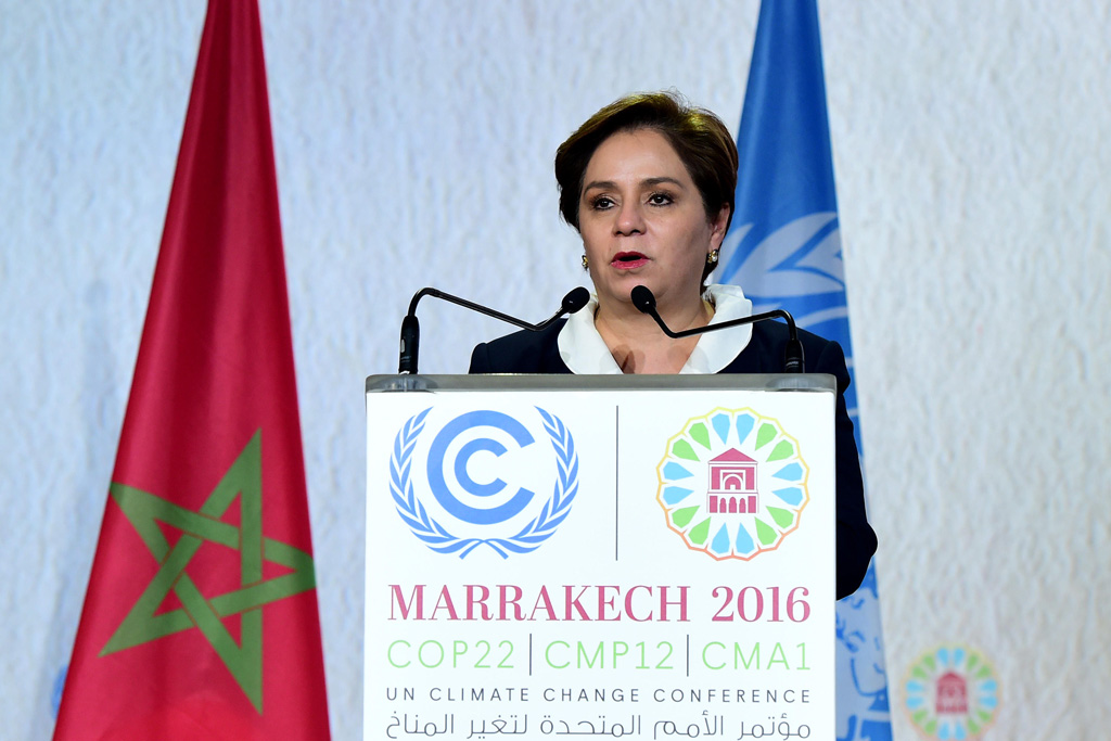 Patricia Espinosa addresses the closing plenary of the Marrakech Climate Conference in Marrakech